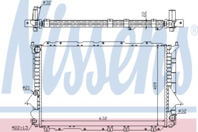 Chladič, chlazení motoru 60458A