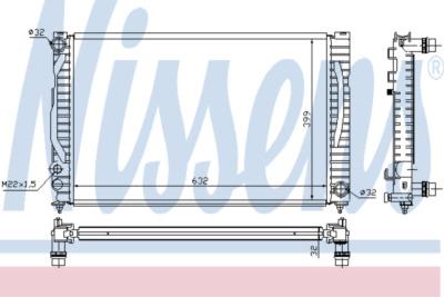 Chladič, chlazení motoru 60497A