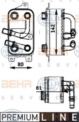 Olejový chladič, motorový olej 8MO 376 726-191
