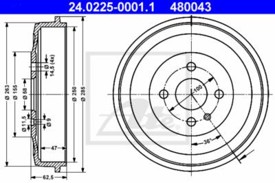 Brzdový buben 24.0225-0001.1