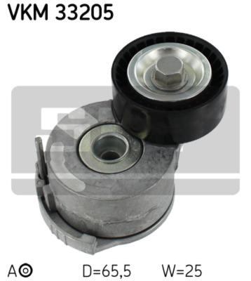 Napinaci kladka, zebrovany klinovy remen VKM 33205